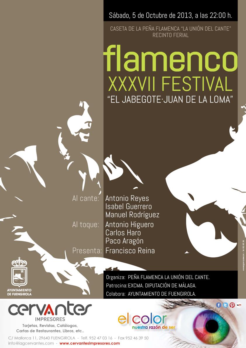 Cartel Festival Flamenco Jabegote-Juan de la Loma 2013