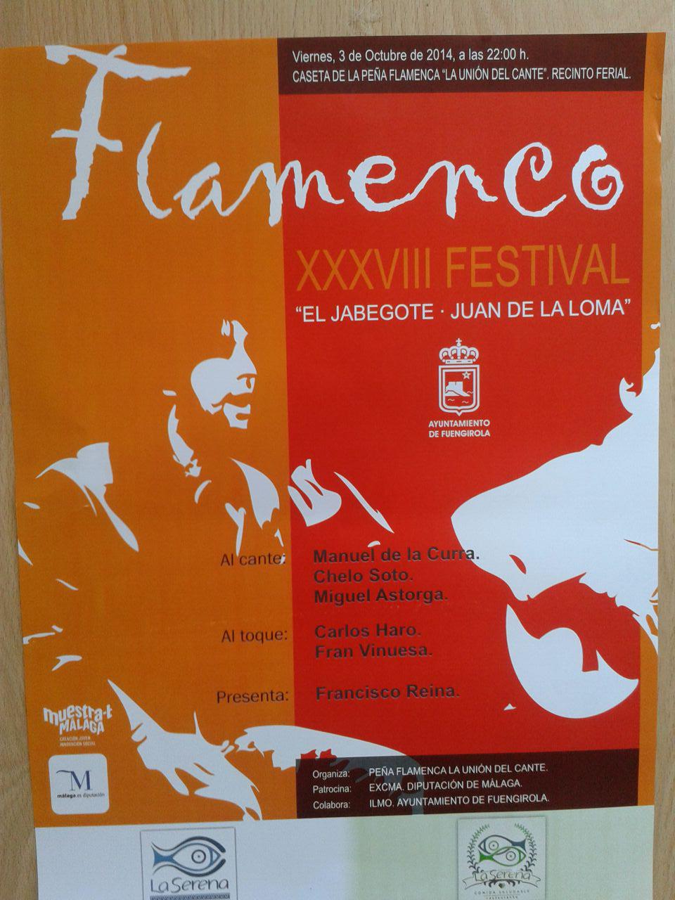 Cartel XXXVIII Festival El Jabegote - Juan de La Loma