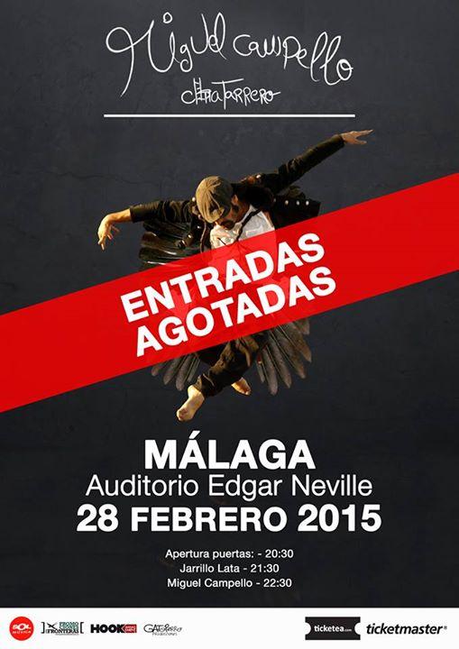 Cartel concierto Miguel Campello Málaga