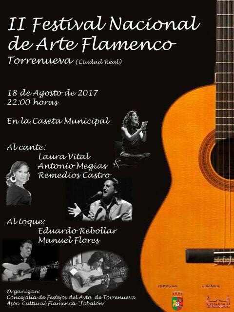 CARTEL DEL II FESTIVAL DE CANTE FLAMENCO DE TORRENUEVA. CIUDAD REAL