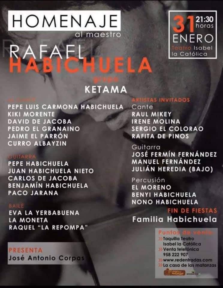 Homenaje a Rafael Habichuela