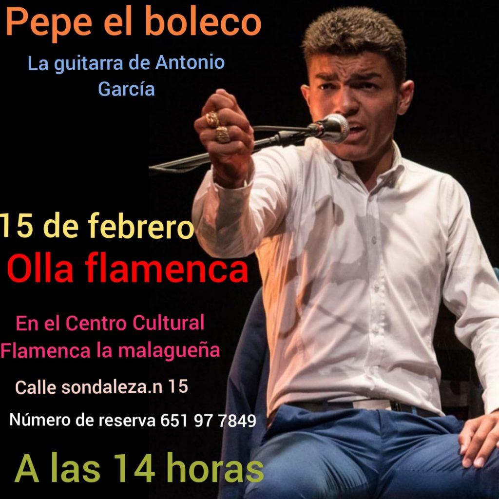 Cartel de El Boleco Peña La Malagueña
