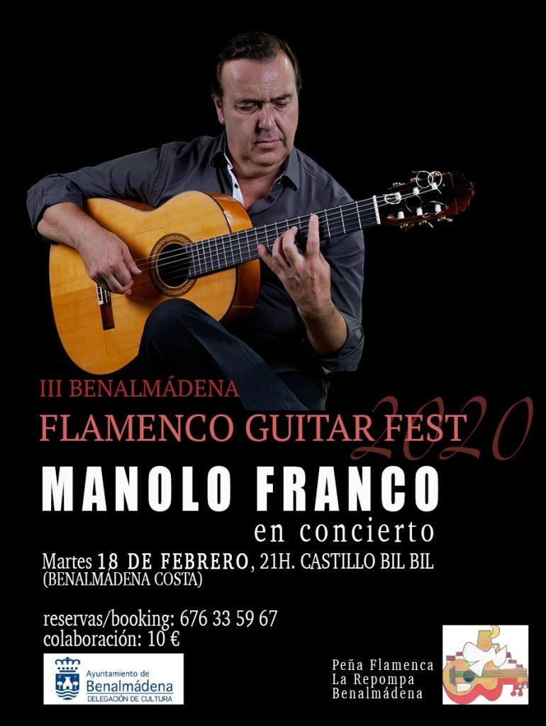 Cartel Manolo Franco Benalmádena