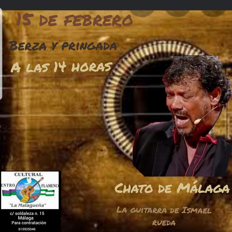 Cartel El Chato Peña La Malagueña