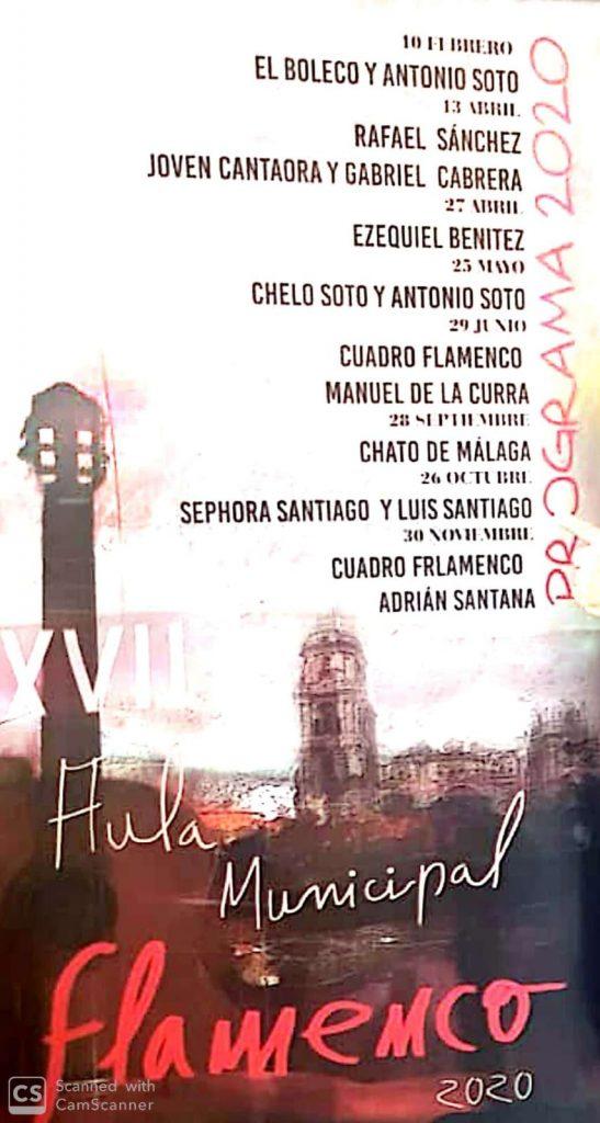 Cartel XVII Aula de Flamenco de Málaga