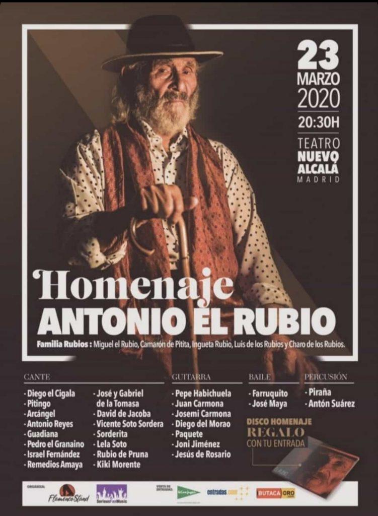 Cartel Homenaje a Antonio El Rubio