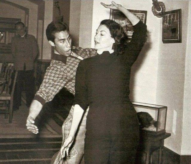 Ava Gardner, bailando en Villa Rosa.