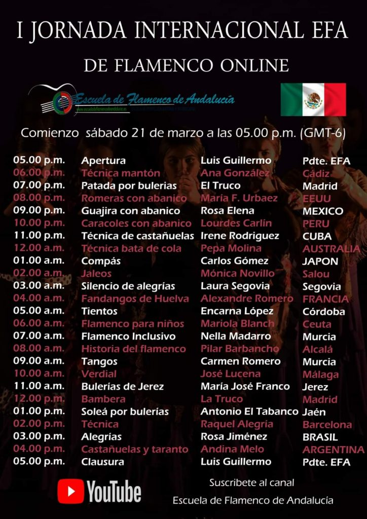 Cartel EFA Horario México