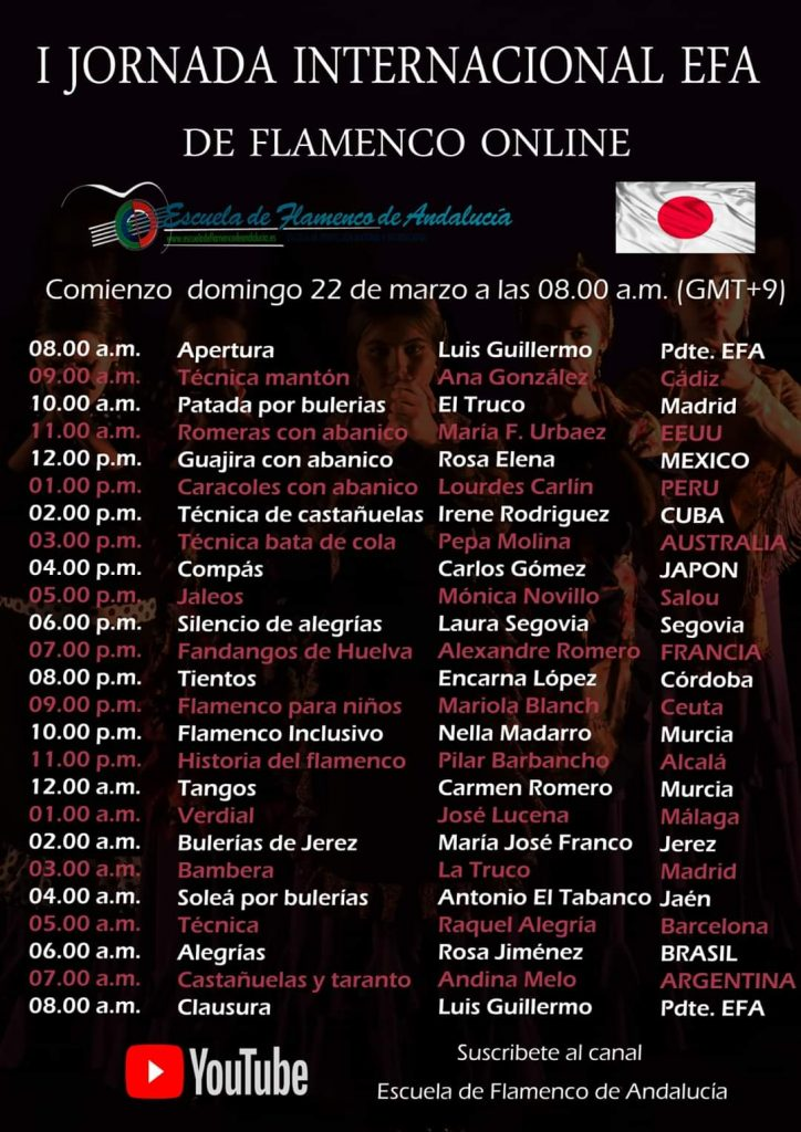 Cartel EFA horario Japón