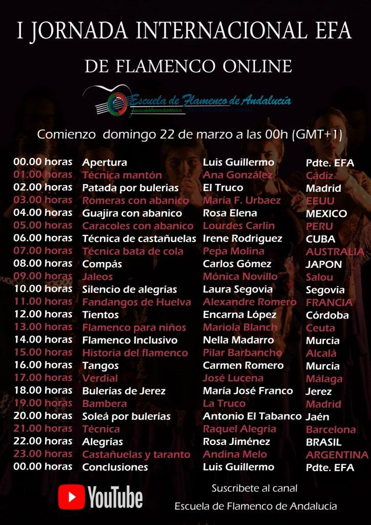 Cartel EFA horario España