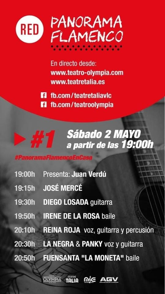 Red Panorama Flamenco